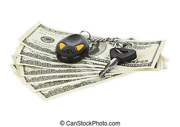 chiavi, automobile, soldi