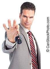 chiavi automobile, uomo affari