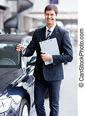 chiavi, automobile, venditore