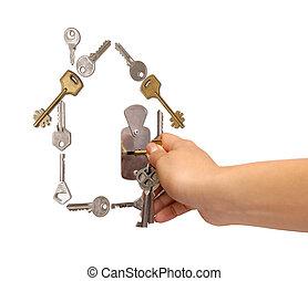 chiavi, casa, fatto