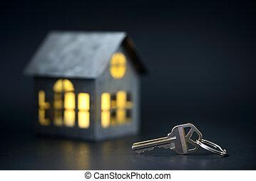 chiavi, casa, modello