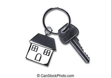 chiavi, casa, ritaglio, nuovo, percorso