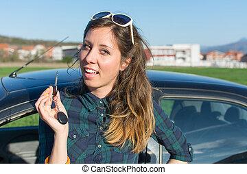 chiavi, donna macchina