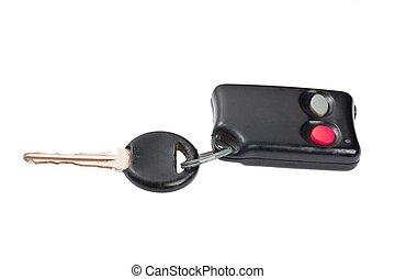 chiavi, macro, colpo, macchina elettrica