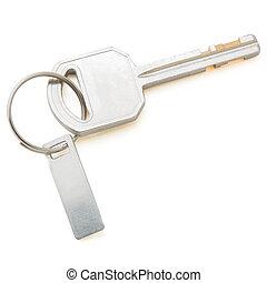 chiavi, percorso, ritaglio, bianco, isolato