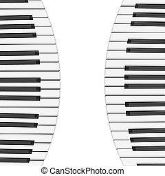 chiavi, pianoforte, fondo, musica