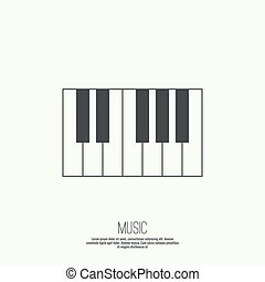 chiavi, pianoforte, icona