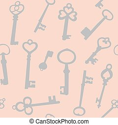 chiavi, seamless, fondo