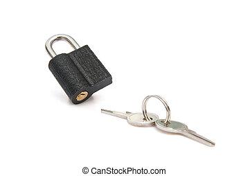 chiavi, serratura, ritaglio, cuscinetto, percorso