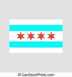 chicago, bandiera, vettore