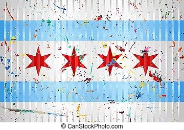 chicago, macchie, colore bandiera