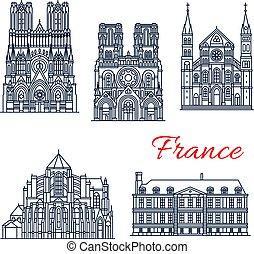 chiesa, cattolico romano, punto di riferimento, francese, viaggiare