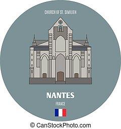 chiesa, francia, st., similien, nantes