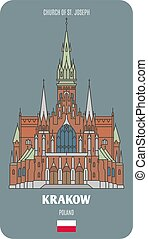chiesa, giuseppe, cracovia, st., polonia