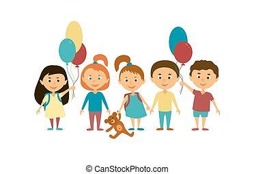 children., characters., cartone animato