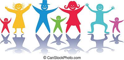 children., felice, persone