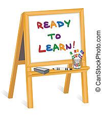 childs, cavalletto, pronto, imparare