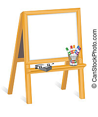 childs, cavalletto, whiteboard