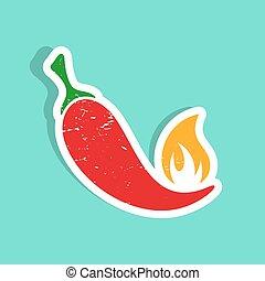 chilli, pepe caldo, rosso
