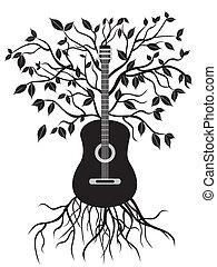 chitarra, albero