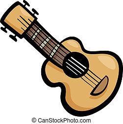 chitarra, arte clip, cartone animato, illustrazione