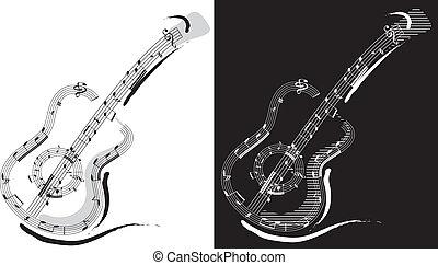 chitarra, emblema