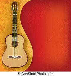 chitarra, musica, astratto, grunge, fondo