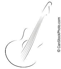 chitarra, schizzo