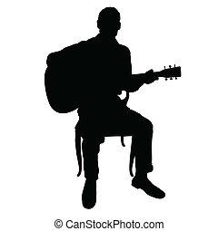 chitarra, uomo