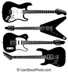 chitarra, vettore, elettrico