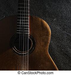chitarra, vita, ancora