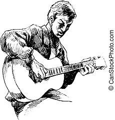 chitarrista, giovane