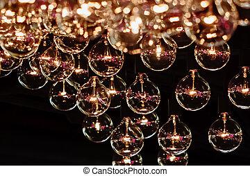 chiudere, decorazione, illuminazione, bulbo