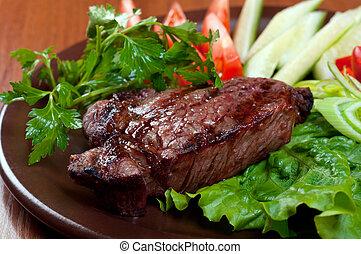 chorizo, bistecca
