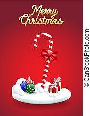 christmas!, caramella, allegro, canna, natale, felice