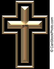 chromed, oro, croce, illustrazione