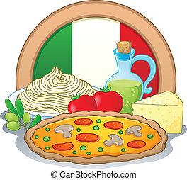 cibo, 1, tema, immagine, italiano