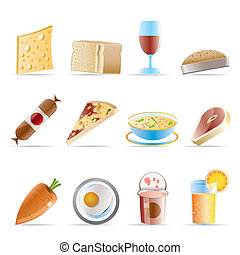 cibo, 2, bevanda, negozio, icone