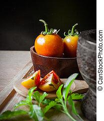 cibo, bio, verdura, pomodori