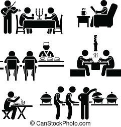 cibo, caffè, bevanda, ristorante