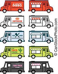cibo, camion, grafica