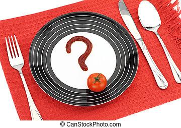 cibo, circa, domanda