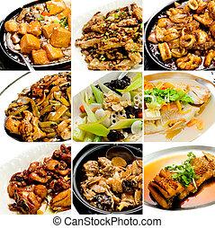 cibo, collezione, cinese, asiatico