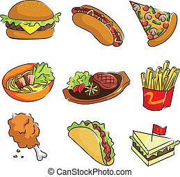 cibo, digiuno, icone