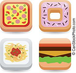 cibo, domanda, icone