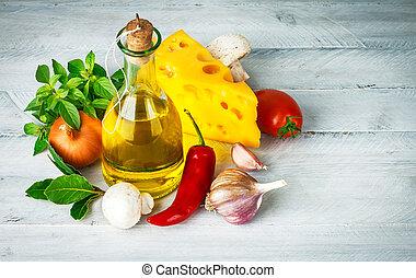 cibo, erbe, italiano, ingrediente