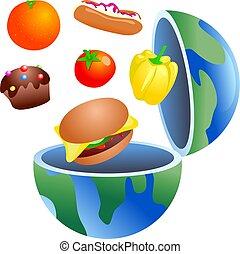 cibo, globo