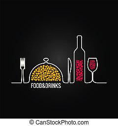 cibo, menu, bevanda, fondo