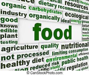 cibo, messaggio, concetto, naturale