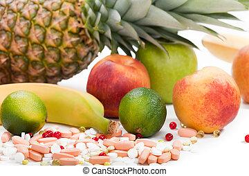 cibo, multi, frutta, vitamina
